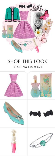 """""""Spring has Sprung!!"""" by rossvanderh ❤ liked on Polyvore featuring Gucci, Anna Sui, Aruna Seth, Marc by Marc Jacobs, Disney, cutecardigan and springlayers"""
