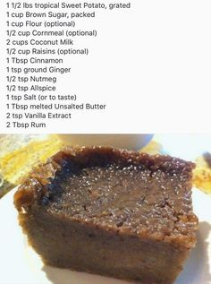 Jamaican Bread Pudding Recipe Fresh Jamaican Sweet Potato Pudding Recipes In 2019 Jamaican Desserts, Jamaican Cuisine, Jamaican Dishes, Jamaican Recipes, Jamaican Rum Cake, Guyanese Recipes, Carribean Food, Caribbean Recipes, Caribbean Party
