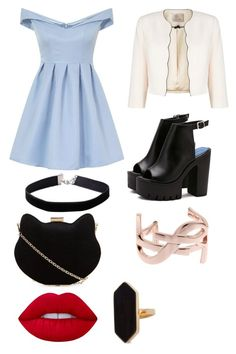 """""""Untitled #186"""" by bandsdestroyamylife on Polyvore featuring Chi Chi, Miss Selfridge, Lime Crime, New Look, Jaeger, Yves Saint Laurent and Jacques Vert"""