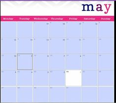 FREE editable, printable calendar!  I used it to make a countdown until the last day of school.