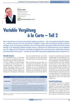 Kostenlos lesen: Variable Vergütung à la Carte. Teil 2. In: personal manager 6. Zeitschrift für Human Resources. Mannheim: HRM Research Institute 2014. auf guntherwolf.de/read/