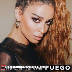 """Fuego - Playmen Festival Remix"" by Eleni Foureira Playmen added to EDM Room playlist on Spotify Happy Fun, Famous Women, Celebs, Celebrities, Edm, Concert, Greeks, Singers, Smile"