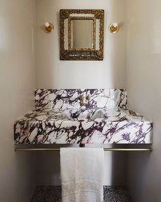 Home Interior Art We went for high Impact in this tiny powder room we tucked under the stairs in our Venice Canal Project. Tile floors by Ruben Acame Taps by Marble Vanity, Tiny Powder Rooms, Room, Interior, Cheap Diy Decor, Cheap Home Decor, Home Decor, Elegant Bathroom, Old World Style