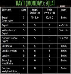 HULK 6-Weeks Workout Program Day#2-Bench Press | Workout plan ...