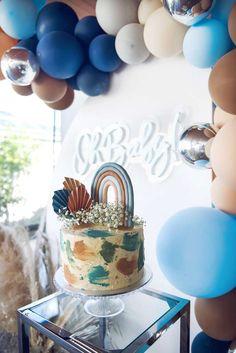 Rainbow First Birthday, Baby Boy First Birthday, First Birthday Cakes, Boy Birthday Parties, Rainbow Dash Party, Rainbow Baby, Boy Baby Shower Themes, Baby Shower Parties, Shower Party