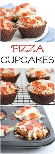 Pizza Cupcakes! Savory cupcake/muffins that are so fun to eat.