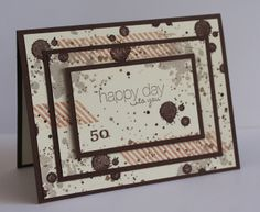 Stampin Up - Gorgeous Grunge and Triple Time Stamping By Kylie Purtell. love the stamping