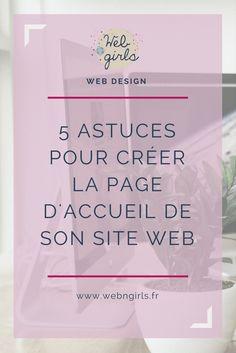 5 astuces pour creer page accueil site web
