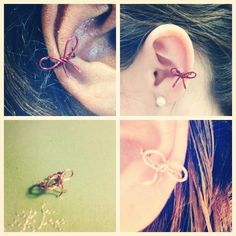 Bow Ear Cuff by AdoraBelle1 on Etsy, $5.00