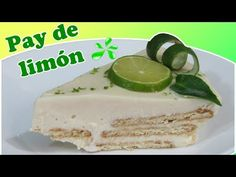 Cold Limon Pay with Marias Cookies Easy Lemon Pie, Tres Leches Cake, Cookie Pie, Sweet Life, Flan, Butter Dish, Vanilla Cake, Delicious Desserts, Cookies