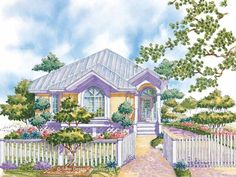 Eplans Low Country House Plan - French Doors - 1288 Square Feet and 2 Bedrooms from Eplans - House Plan Code HWEPL05558
