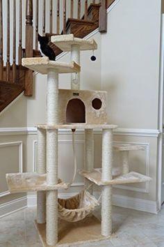 Arbol trepador rascador para gatos casa mascota juego - Arbol gato ikea ...
