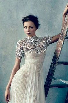 Turtleneck Wedding Dresses For Modest Brides | HappyWedd.com #PinoftheDay #turtleneck #wedding #dresses #modest #brides
