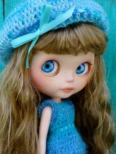 OOAK Custom Blythe doll -MARGUERITE- with ooak outfit- by Marina. $575.00, via Etsy.