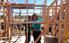 Managing Editor Melissa Gillespie and her son in Tecate, Mexico. Building a house, helping others and making memories.