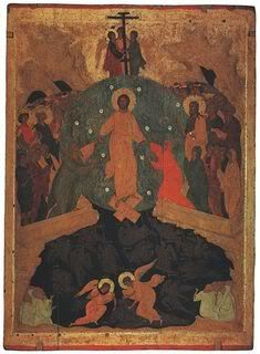 One of the fabulous images for Holy Saturday is that of Jesus—after his descent into death—pulling Adam and Eve out of their tomb, their prison, and into the light and air. Religious People, Religious Icons, Religious Art, Russian Icons, Russian Art, Holy Saturday, Holy Week, Adam And Eve, Orthodox Icons