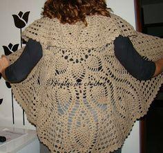 * Pérolas do Crochet: Colete de croche circular com gráfico