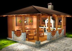 a small-house for the garden, gazebo ideas.