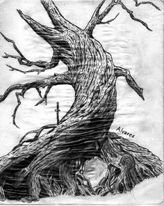 Hollow Tree Sketch | Sleepy Hollow Tree by Alvarex. I would LOVE this as a tattoo, reason...because of reasons. Location, uhhh....