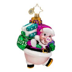 The Christopher Radko Christmas Ham is part of the 2013 Dated Collection of Radko Ornaments.