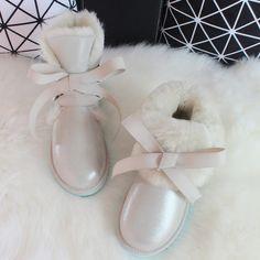 BLIVTIAE/Luxury Sheepskin Snow Boots Women Genuine Leather Short Strap Sweet Ankle Boots Winter Wool Sheep Fur Boots  #like #lol #lovely #jewelry #fantastic #darrens1960 #amazing #great