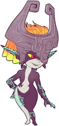Midna from Twilight Princess. She's my favorite character in the whole game, and it's because of her cute personality. I love how she giggles! X3