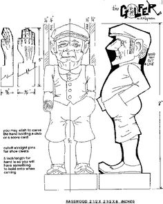Wood Carving Patterns for Beginners | Caricature Patterns by Will Hayden Group I