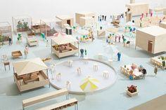 Maquette Architecture, Architecture Collage, Architecture Images, Industrial Architecture, Concept Architecture, Amazing Architecture, Kyoto, 3d Modelle, Arch Model