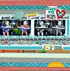 bouncing boys by luvscrappin at Studio Calico