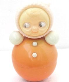 Vintage Roly Poly Ding Doll - Nevalyashka - 1970s - from Russia / Soviet Union / USSR on Etsy, $46.00