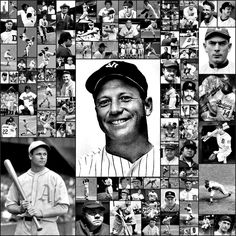 Baseball Legends Picture Collage.