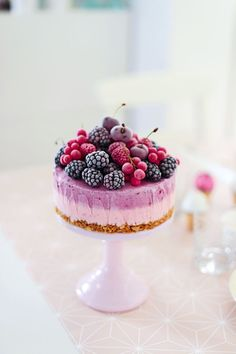 Red fruit mousse cake.