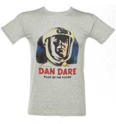 Men's Grey Dan Dare Pilot Of The Future T-Shirt    If anyone can remember The Eagle, then you will remember Dan Dare.. I am having diffiulty getting hold of more shirts inspired by Dan Dare