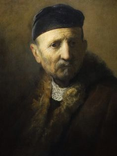 Tronie Of An Old Man by Rembrandt van Rijn (1631): Mauritshaus, The Hague