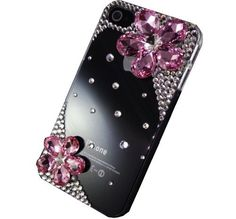 Bling Crystal Pink Floral Case Cover for Iphone 4 & 4s Made with Swarovski Elements (Handmade by TEAM LUXURY) by TEAM LUXURY®, http://www.amazon.com/dp/B008EH2X9W/ref=cm_sw_r_pi_dp_JVxcrb0WP3BHH