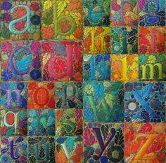 Sue Trevor's alphabet each five and a half inches square