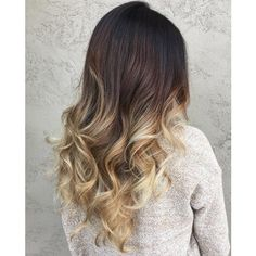 The 40 Sizzling Ombre Hair Color Solutions for Blond, Brown, Red and... ❤ liked on Polyvore featuring accessories and hair accessories