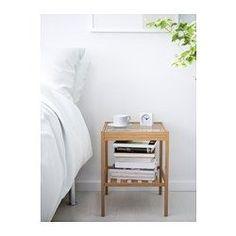 IKEA - NESNA, Stolik nocny, , Bambus to wytrzymały, naturalny materiał.