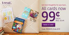 Unlimited Cards from Treat by Shutterfly - Only $0.99