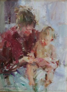 Carolyn Anderson, a nationally recognized artist, is an accomplished pastelist and oil painter. Born and raised in the Chicago area,. Oil Painters, Mother And Child, Pastel, Figure Painting, Traditional Art, Great Artists, Painting Inspiration, Portraits, Fine Art