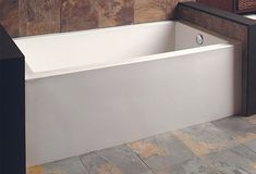 """Buy the Mirabelle MIREDS6032LWH White Direct. Shop for the Mirabelle MIREDS6032LWH White Edenton 60"""" X 32"""" Three-Wall Alcove Soaking Tub with Left Hand Drain and save."""