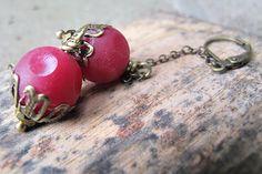 Moois van ' M(i)e': DIY oorbellen met een eindje ketting/earrings with...
