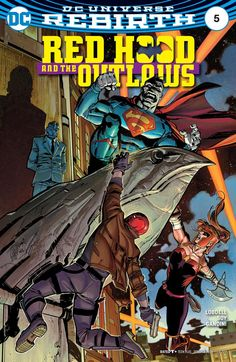 """""""DARK TRINITY"""" part five! Red Hood and Artemis team up against a rampaging Bizarro-and it's a race against the clock to save him-and the city-from Black Mask's mind-controlling techno-organic virus!"""