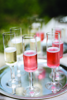 Greet your guests with rosé and prosecco
