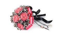 Quinceañera Wild Side Zebra Pink and Black Bouquet