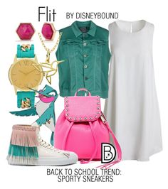 """""""Flit"""" by leslieakay ❤ liked on Polyvore featuring Sans Souci, Trina Turk, G-Star Raw, Rebecca Minkoff, BUSCEMI, Lord & Taylor, disney, disneybound and disneycharacter"""