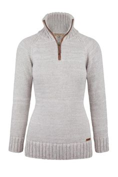 Dubarry Luxurious alpaca/cotton mix zip neck sweater 40% Off Original Pricing on Discontinued Styling $225.00