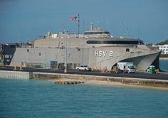 One of the more unusual naval vessels weve seen in Key West. Andy Newman shot the photo Friday. , The HSV-2 Swift (HSV 2) is a chartered high-speed vessel of the U.S. Navy Military Sealift Command.