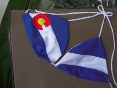 Colorado State Flag Bikini  ~ i NEED this!