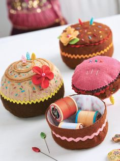 Cake Themed Pincushions